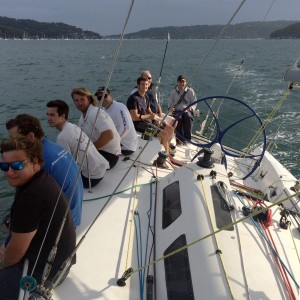 Dan Fitzgibbon at the helm of Another Challenge_credit Another Challenge crew